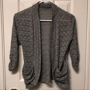 Grey open-front cardigan 💕